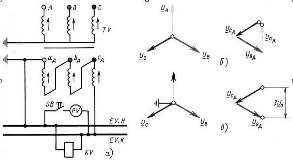 а - общая схема трансформатора